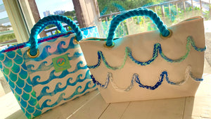 Tote Bag Canvas, Waves