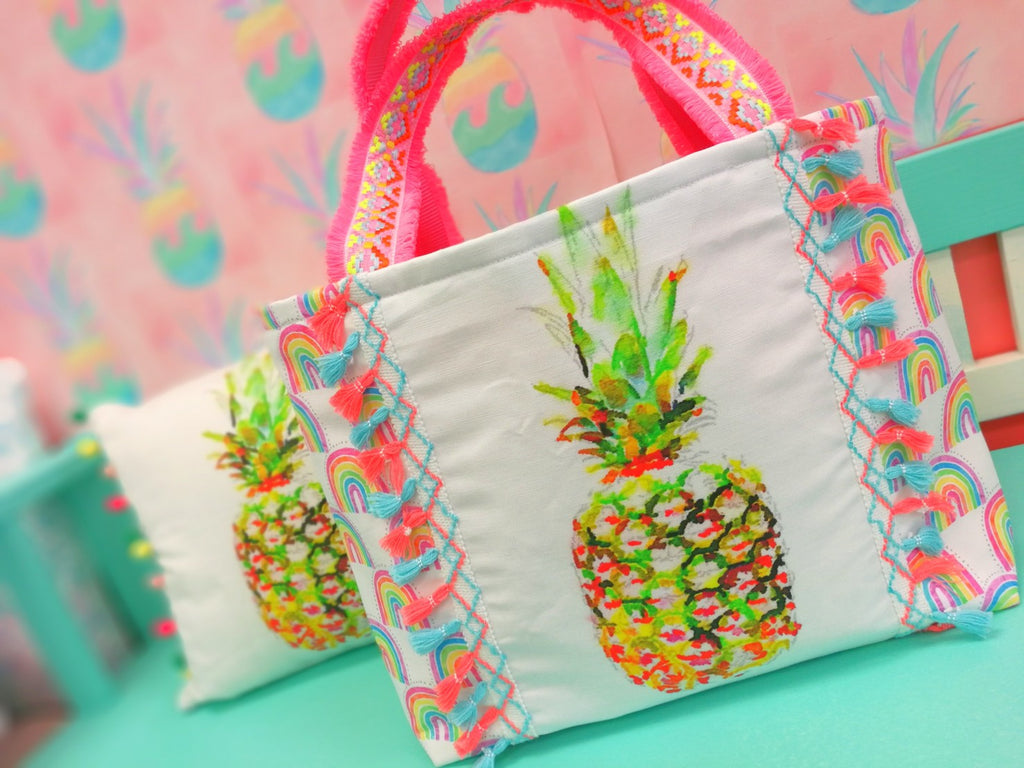 Big Pineapple Rainbow Tote