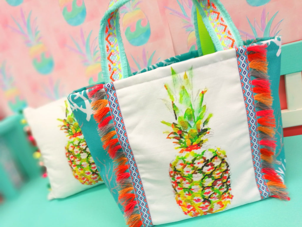 Big Pineapple Coral Tote