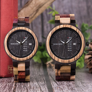 P14 Antique Style Wood Timepiece