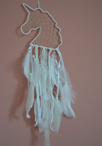 White unicorn dream catcher