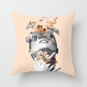 Flower Lady Cushion Cover - Chic Pink