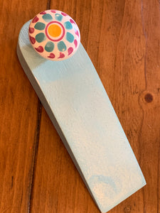 Door stopper - Pearly blue & pretty pattern
