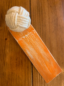 Door stopper - Knotted orange
