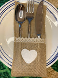 Jute Cutlery Set Holder