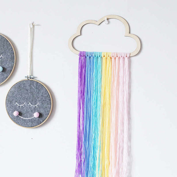 Nordic rainbow dream catcher