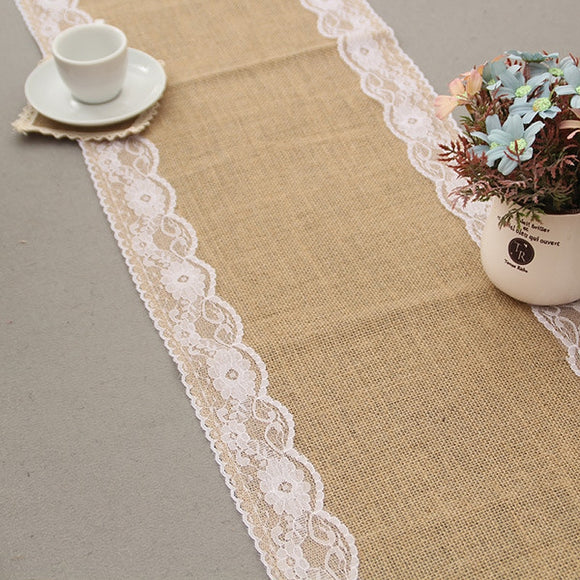 Vintage Jute Table Linen Runner