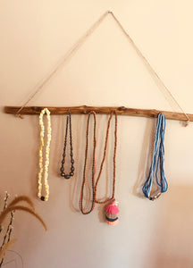 Jewellery display logs - 6 hooks