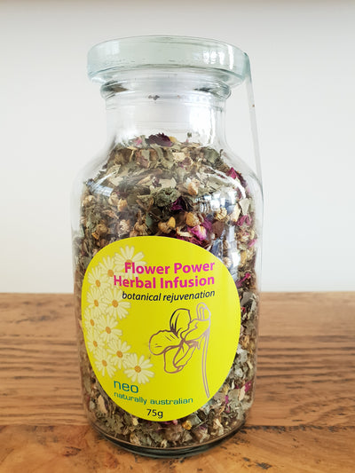 Flower Power Herbal Tea Infusion 75g Jar