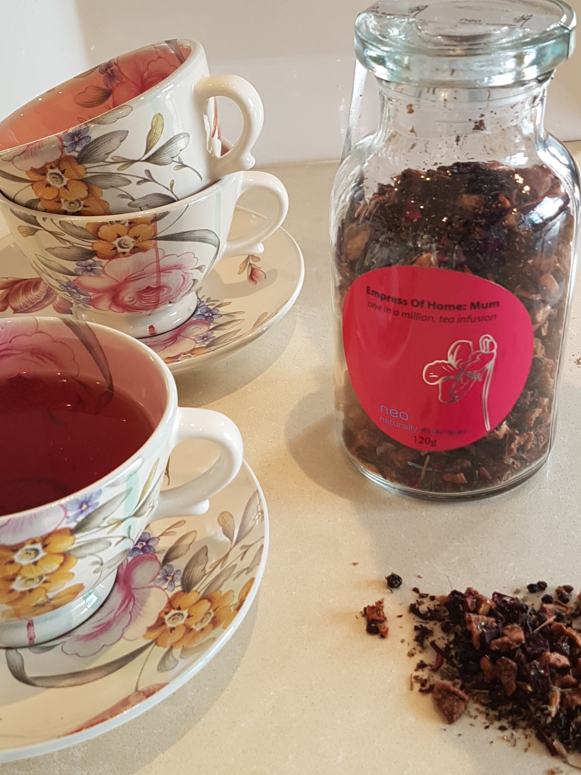 Berry Herbal Tea Jar 120g - Berrylicious