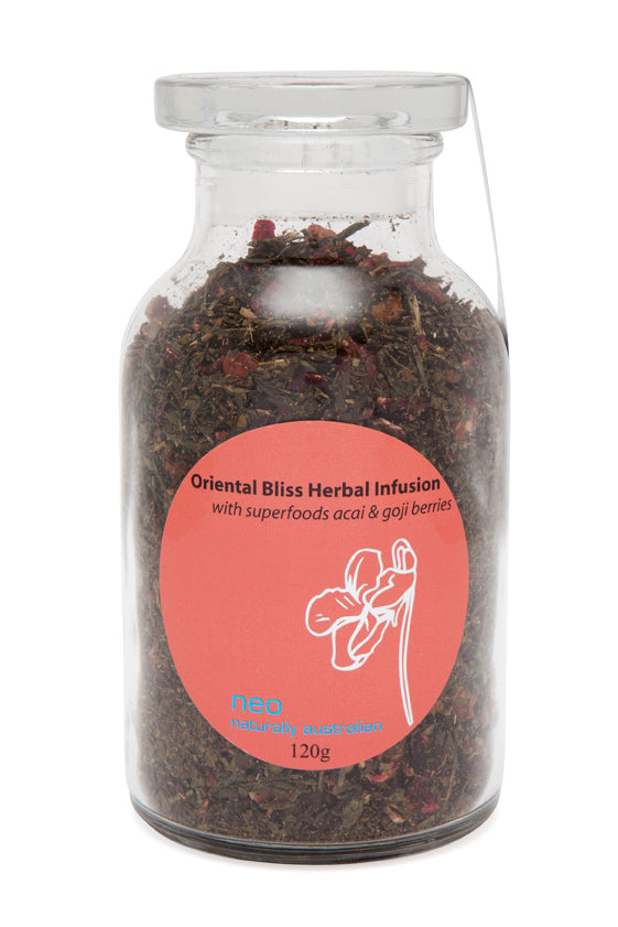 Acai Berries & Goji Berries Tea Jar 120g - Oriental Bliss Tea