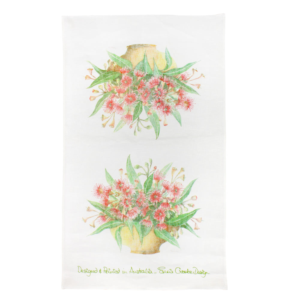 Susie Crooke Gum Blossoms Tea Towel