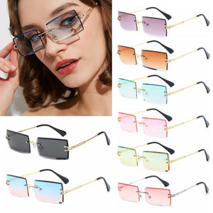 Men Women Summer Rimless Sunglasses Fashion