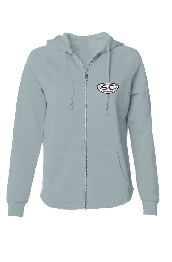 Santa Cruz Surf Shop Womens Lightweight Wash Zip Hoodie - Santa Cruz Surf Shop™