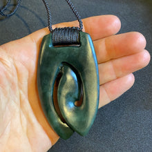 Load image into Gallery viewer, Dark Pendant with ridge knot binding