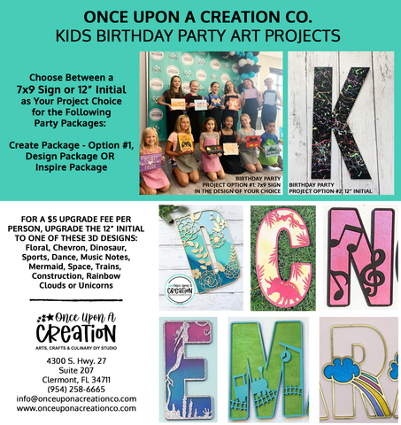 Birthday Party Art Projects