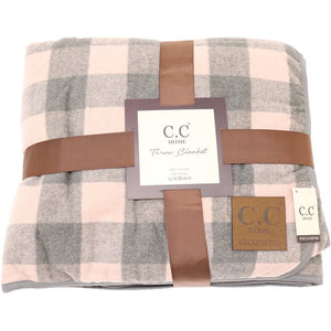Buffalo Check Sherpa Lined Throw Blanket