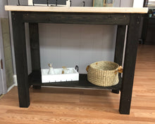Load image into Gallery viewer, Black Kitchen Island