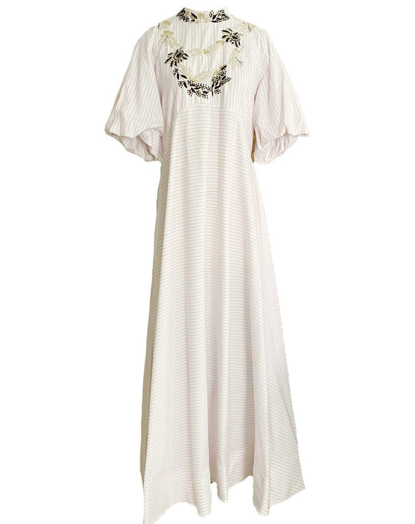 Collar Embroidered Kaftan
