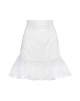White Zigzag Lace Skirt