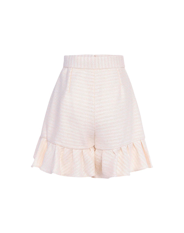 Off-White Ruffle Shorts