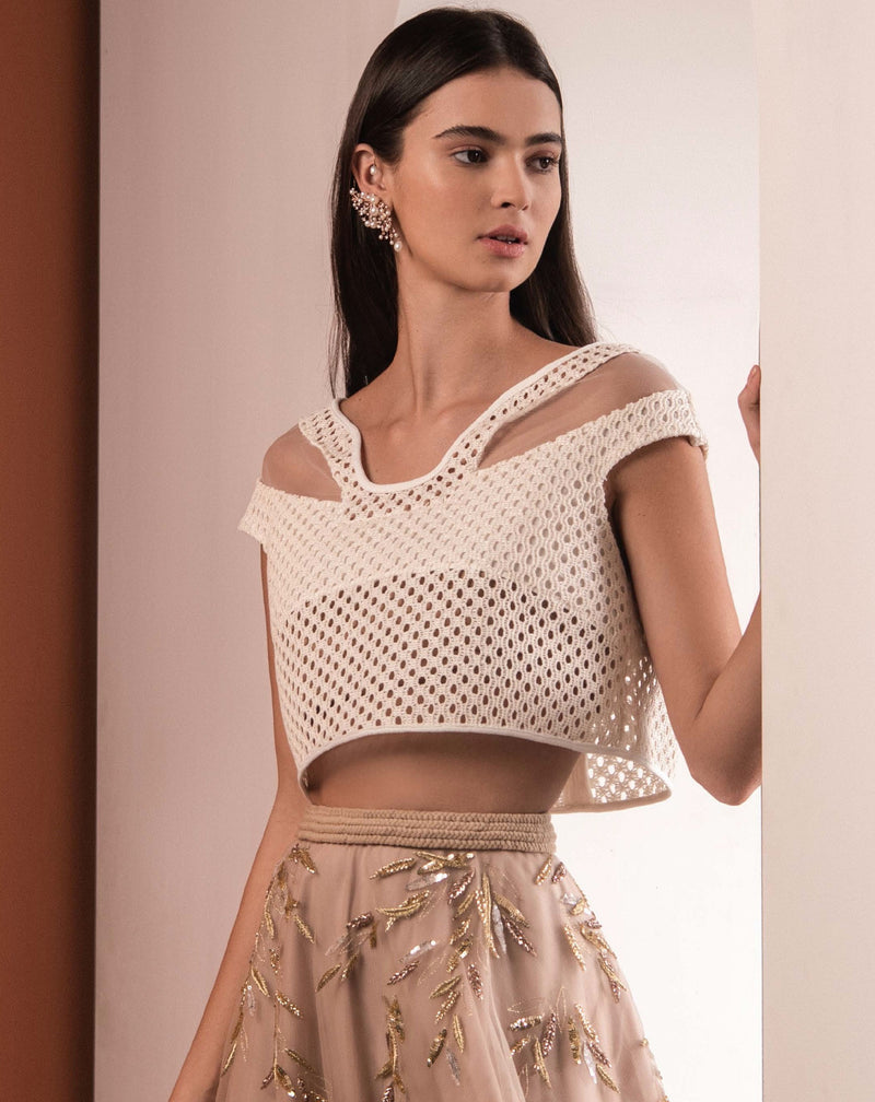 Basket Weave Cropped Top