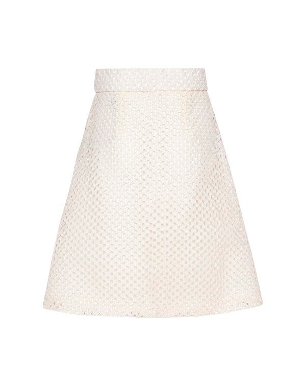 A-Cut Basket Weave Skirt