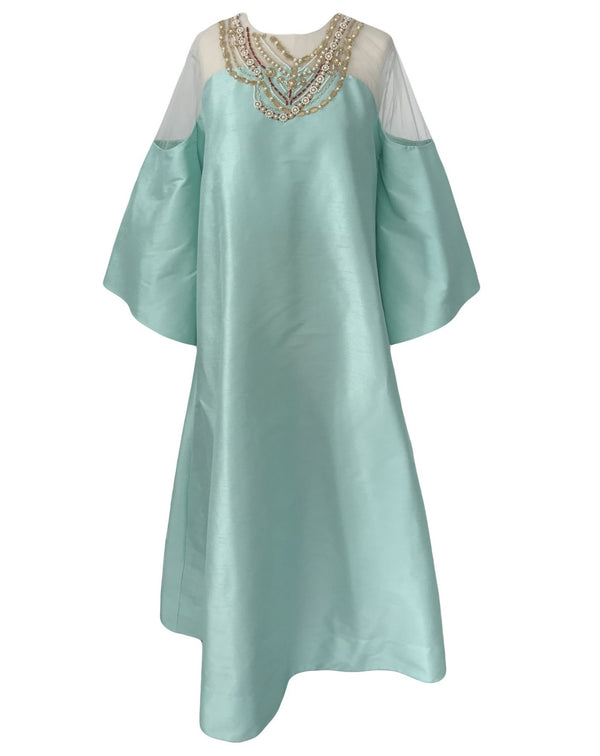 Tulle Embroidered Kaftan