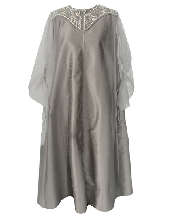 Overlap Collar Kaftan with Bisht