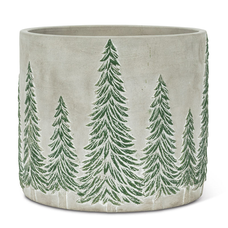 Snowy Tree Planter 6inch