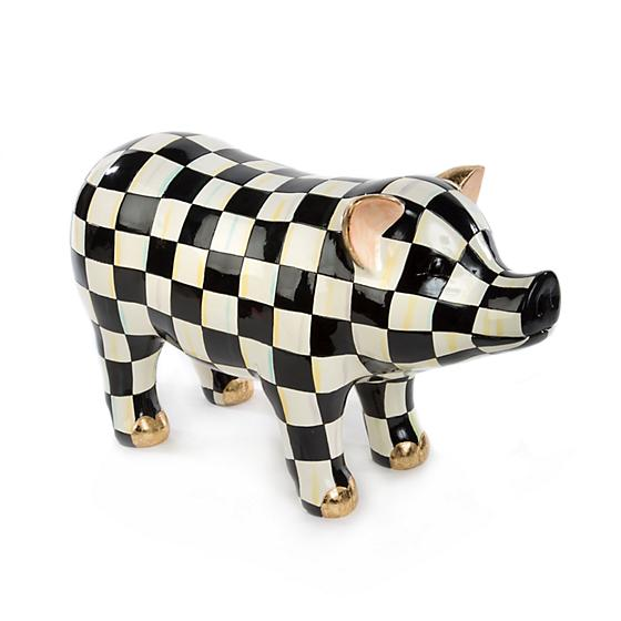 Courtly Check Pig Figurine