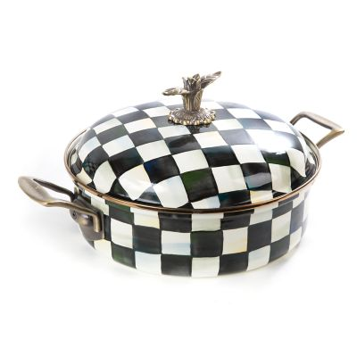 Courtly Check Enamel Casserole