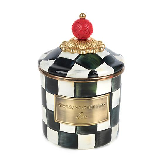 Courtly Check Enamel Canister
