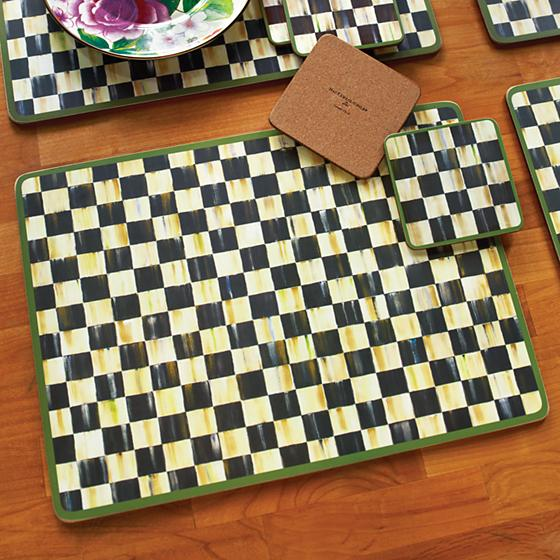 Courtly Check Cork Back Placemats - Set of 4