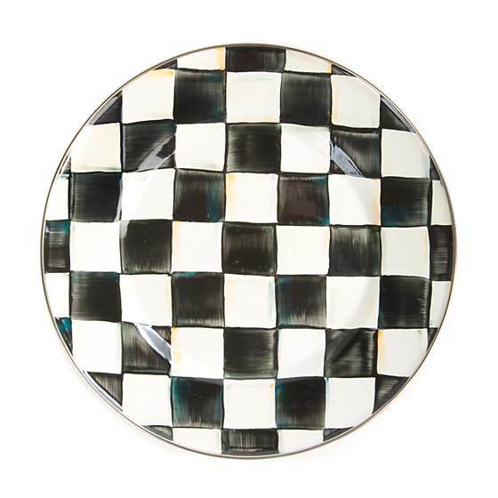 Courtly Check Enamel Plate