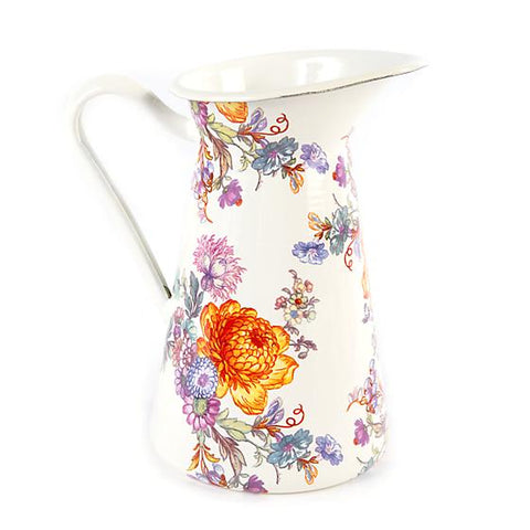Flower Market Practical Pitcher - White