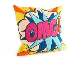 OMG Pop Art Pillow