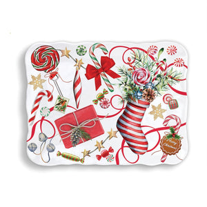 Peppermint Melamine Cookie Tray
