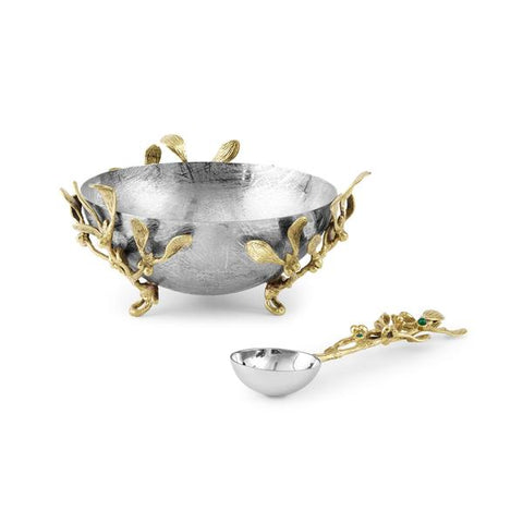 Mistletoe Dish w/Spoon