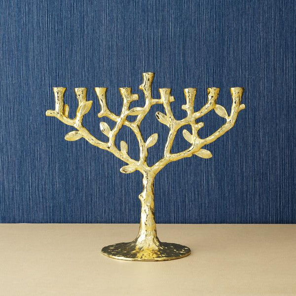 Gold Tree Of Life Menorah