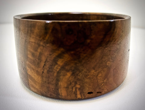 Walnut burl bowl