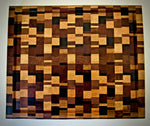 Chaotic patterned end grain cutting board*