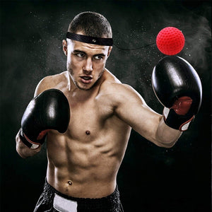 Kick Boxing Reflex Ball Head Band Fighting Speed Training Punch Ball