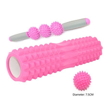 Load image into Gallery viewer, Yoga Pilates Fitness  Foam Roller Massage Roller Set