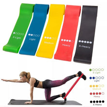 Load image into Gallery viewer, YOGA Resistance Circled Elastic Bands Selection of 10 to 48 lbs