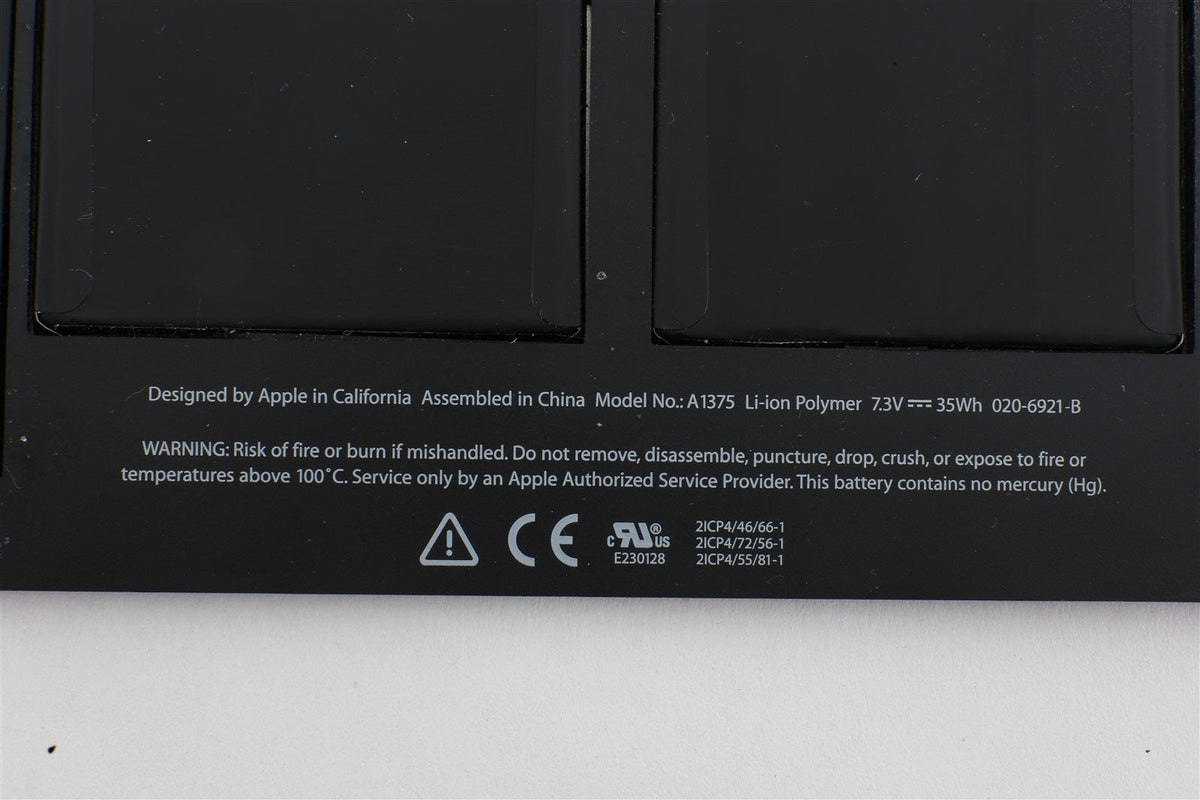 "Genuine Apple A1375 Battery for Macbook Air 11"" A1370 Late 2010 100-200 cycles"