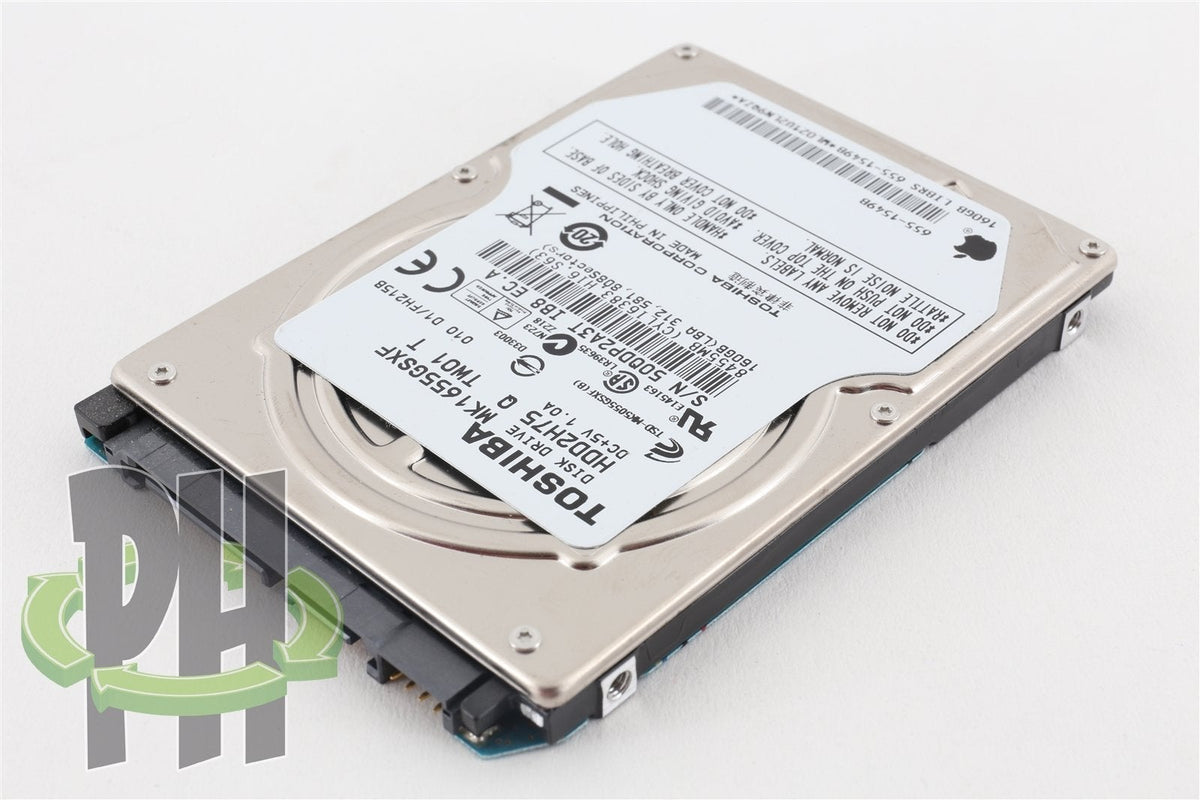 "Apple OEM Toshiba 2.5"" Hard Drive MK1655GSXF 160GB 655-1549"