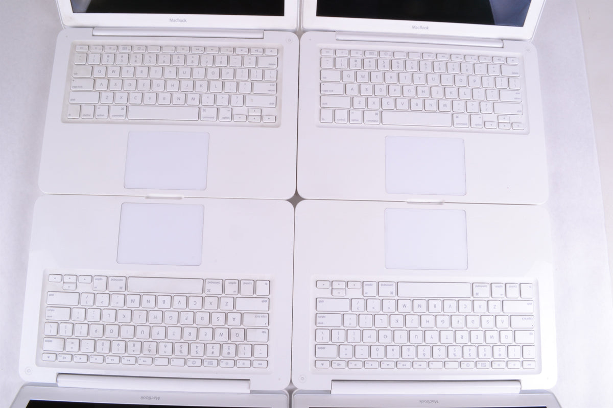 "Lot of 5 - 13"" Apple MacBook Unibody (White) 2.4GHz MC516LL/A A1342 Mid 2010"