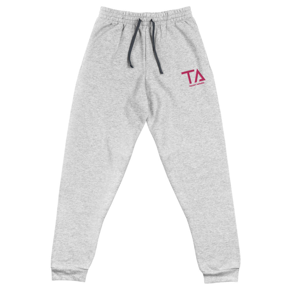 Techky Joggers (Heather Grey / Flamingo Pink)