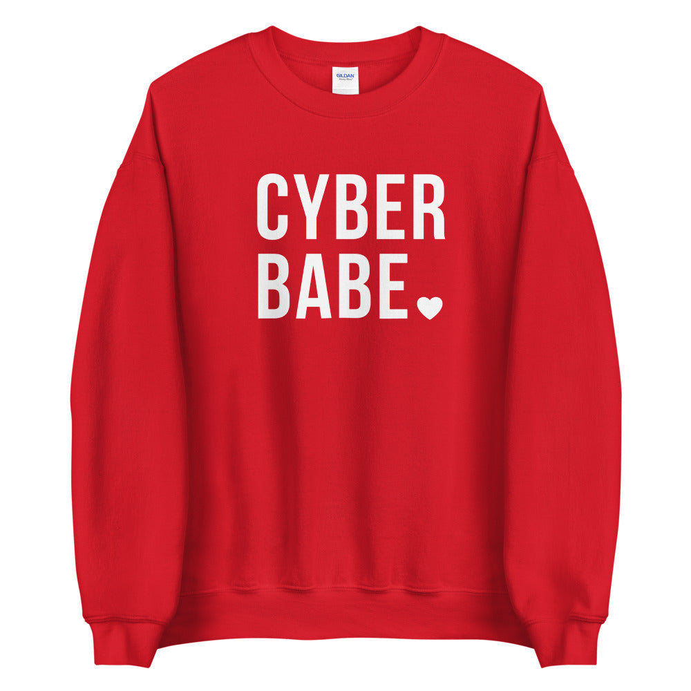 Cyber Babe Red Sweatshirt